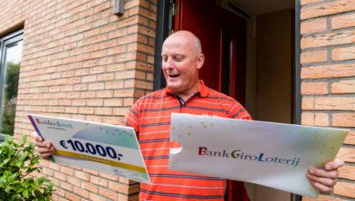 Erwin uit Zoetermeer wint 10.000 euro in BankGiro Loterij