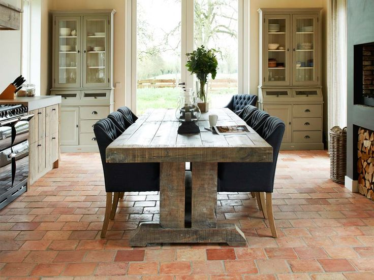 Keuken Met Eethoek : Eettafels van oud hout met een eigentijds design – Wonen