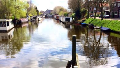 Het Almelose Kanaal in Zwolle