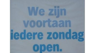 Winkels op zondag open