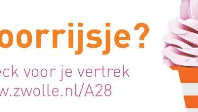 Verkeershinder eind augustus rond Zwolle