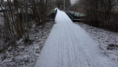 Sneeuval in Zwolle