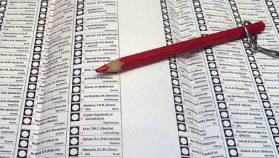 Stemmen op de favoriete kandidaat