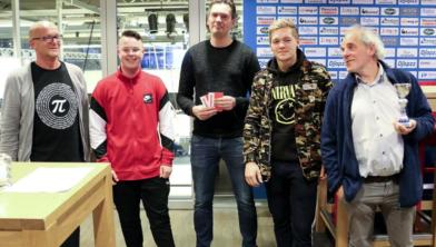 De winnaars: Thomas van Wijngaarden, Joey de Weerd en Stijn Soeters