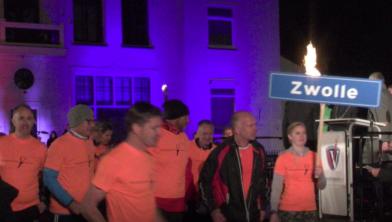Het bevrijdingsvuur onderweg naar Zwolle