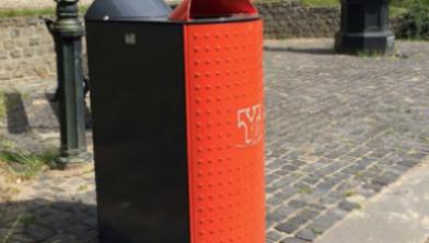 De nieuwe duobak die in het Zwolse straatbeeld gaat verschijnen
