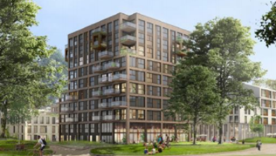 Het gebouw dat gebouwd gaat worden in Weezenlanden-Noord