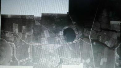 Luchtfoto van de tankgracht (1944)