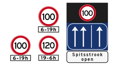 Let goed op de boden langs de snelwegen