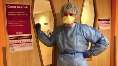 Corona-verpleegkundige Anne Trompert