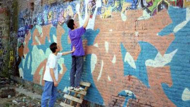 Straatkunstenaars in de jaren '80 en '90