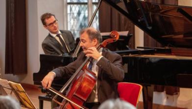 Cellist Csaba Erdos en pianist Wouter Harbers
