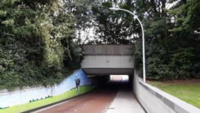 Fietsers kunnen weer door de Lünentunnel