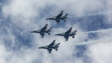 Laagvliegende F16's