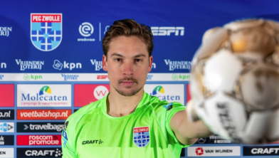 Nigel Bertrams is de nieuwe doelman van PEC Zwolle