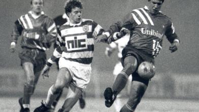 Bert Konterman in actie in het shirt van PEC Zwolle