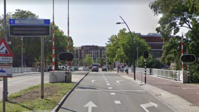 Onderhoud aan de Hofvlietbrug
