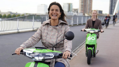 Zwolle heeft inmiddels ook scooters van Go-sharing