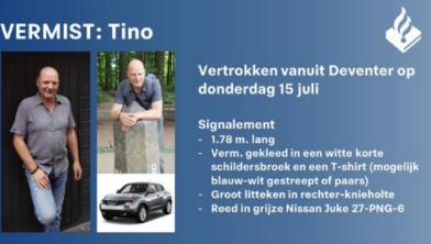 De vermiste Tino uit Deventer