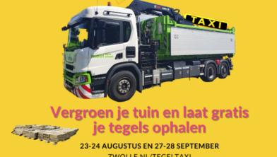 Zwolle zet de tegeltaxi in om tegels op te halen