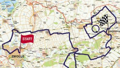 De route van de Simac Ladies Tour van woensdag