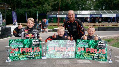 Winnaars samen met Mathieu van Renssen