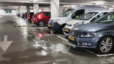 Lekkage in de parkeergarage