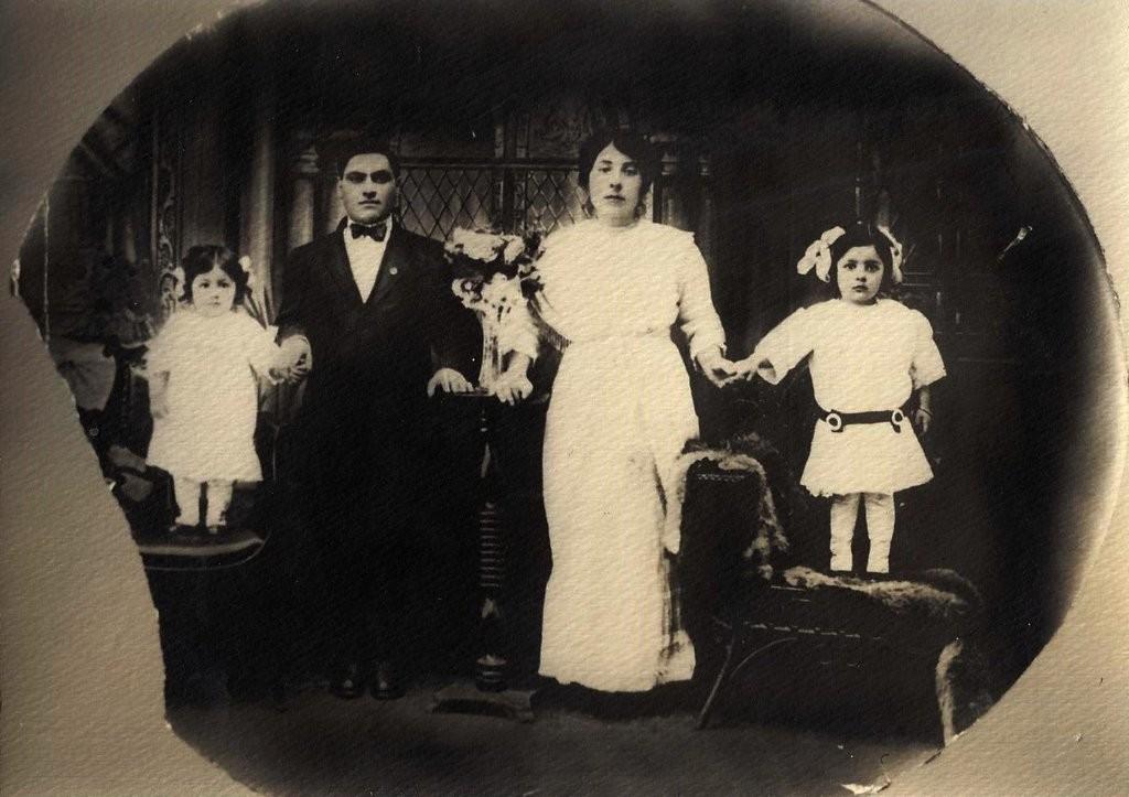 Italiaans gezin rond 1900
