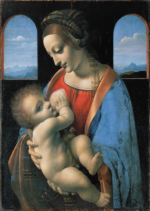 De maagd Maria door Leonardo da Vinci