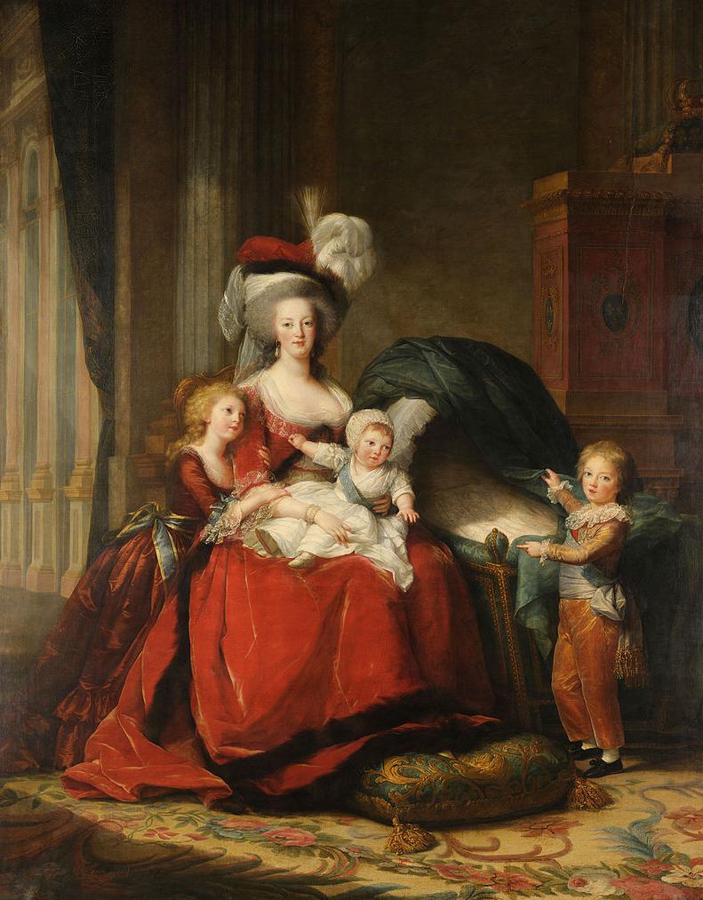 Koningin Marie-Antoinette en haar kinderen door Élisabeth Louise Vigée Le Brun, 1789