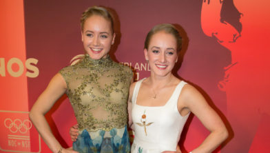 Turnsters Lieke Wevers (links) en Sanne Wevers (rechts)