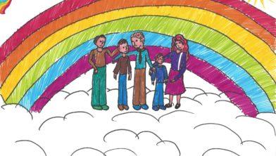 Tekening van gezin van Sara Coster