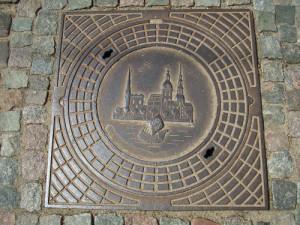 Putdeksel in Riga