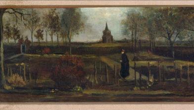 Vincent van Gogh, Lentetuin, de pastorietuin te Nuenen in het voorjaar, 1884, olieverf op paneel, 39 x 72 cm, Groninger Museum