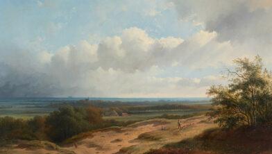 George ten Berge, Gezicht op de duinen bij Bergen, 1856