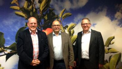 raadsleden CDA Beuningen vlnr Rob Martinus, Dave Preijers en Pim van Teffelen