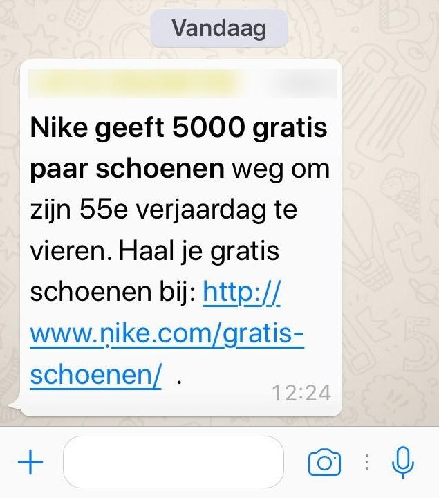 Verbazingwekkend Fraudehelpdesk waarschuwt voor nep Whatsapp bericht ZB-74