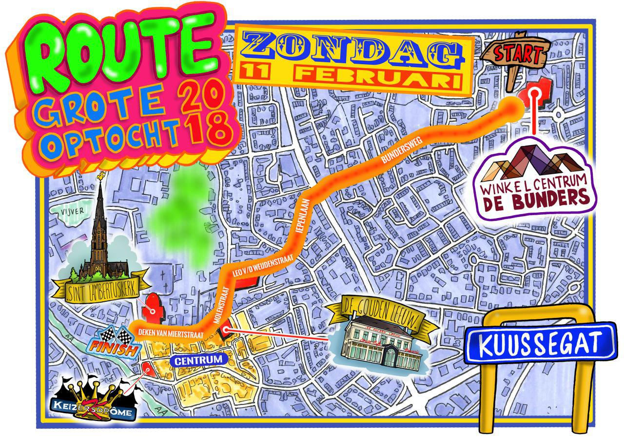 Route Grote Optocht 2018