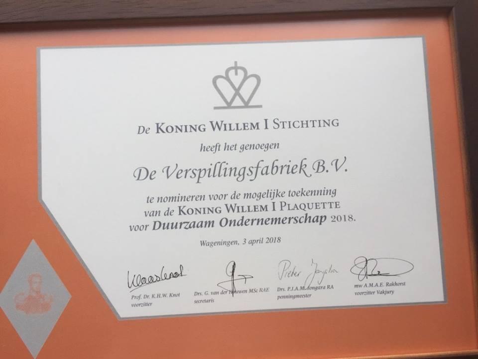 Koning Willem I plaquette