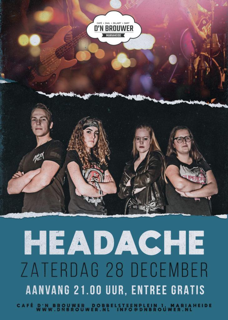zaterdag 28 dec headache
