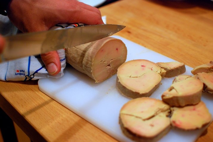 Foie-gras (decadente lekkernij ten koste van de gans)