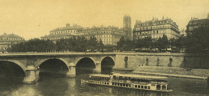 De Seine anno 1900: oogt romantisch... zolang je er geen slokje van hoeft te nemen (foto: Wikipedia)