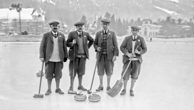 Brits curlingteam in 1924