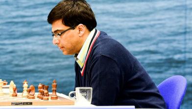 Viswanathan Anand vandaag tegenstander van Anish Giri