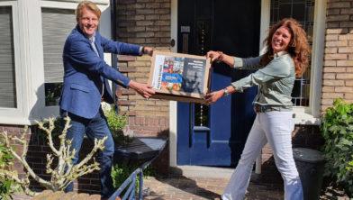 Kathelijn Rombaut van 3D Makers Zone brengt diner langs bij Miklas Dronkers, directeur Crown van Gelder.