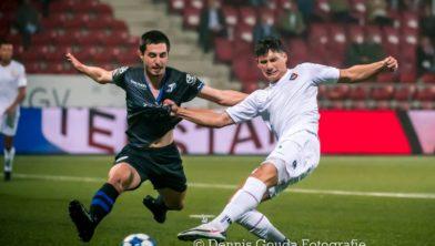 Sebastian Soto tijdens de wedstrijd van Telstar tegen FC Den Bosch