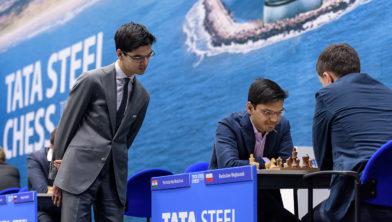 Harikrishna  tijdens Tata Steel Chess Tournament 2017