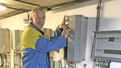 Procestechniekcoach Albert-Jan Butter in het Fieldlab Smart Maintenance
