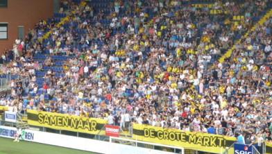 De wens  van de supporters: feest op de grote markt.
