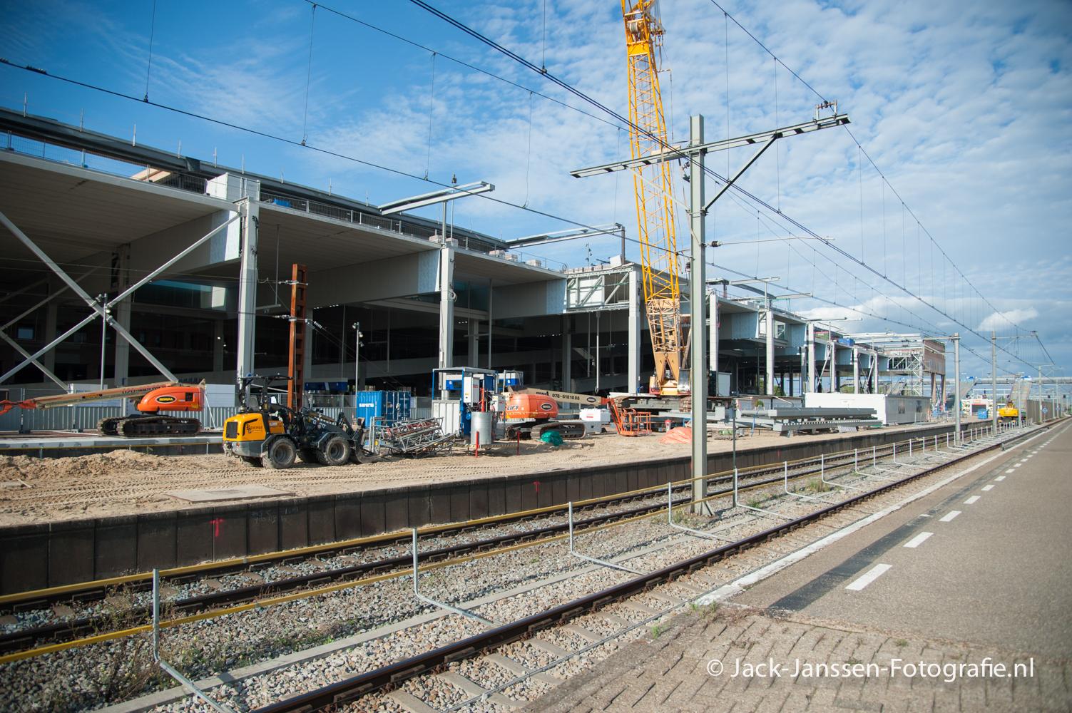 Station Breda in aanbouw